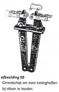 splitsen en inkorten van de ketting