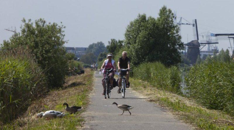 Fietsroute Blauwe Stad aangepast.