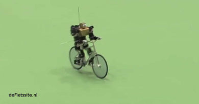 Robots kunnen ook fietsen.