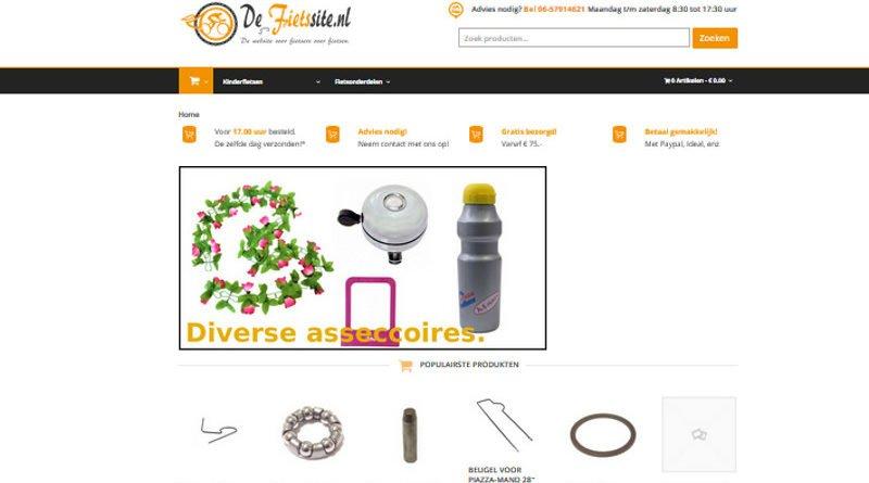 DeFietssite.nl sluit zijn webshop.